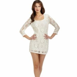 NWT- French Connection cream lace dress.